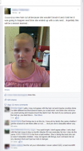 Mom shaves 10 year old daughter's head to humiliate her because she won't brush her hair