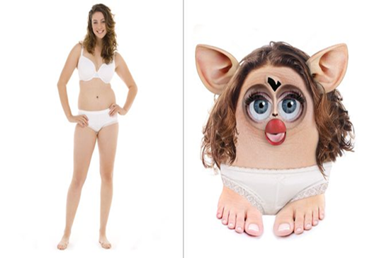 The True You Project, a nonprofit organization that seeks to promote healthy body image in young women, has launched a new awareness campaign depicting what a real woman would actually look like if she had the physical dimensions of a Furby doll